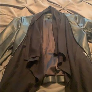 Faux leather short  jacket from guess